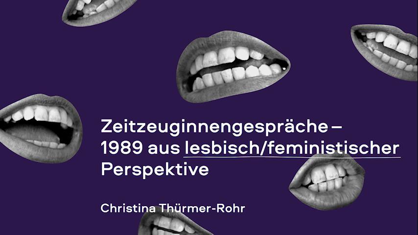 Zeitzeug*innen-Interview mit Christina Thürmer-Rohr