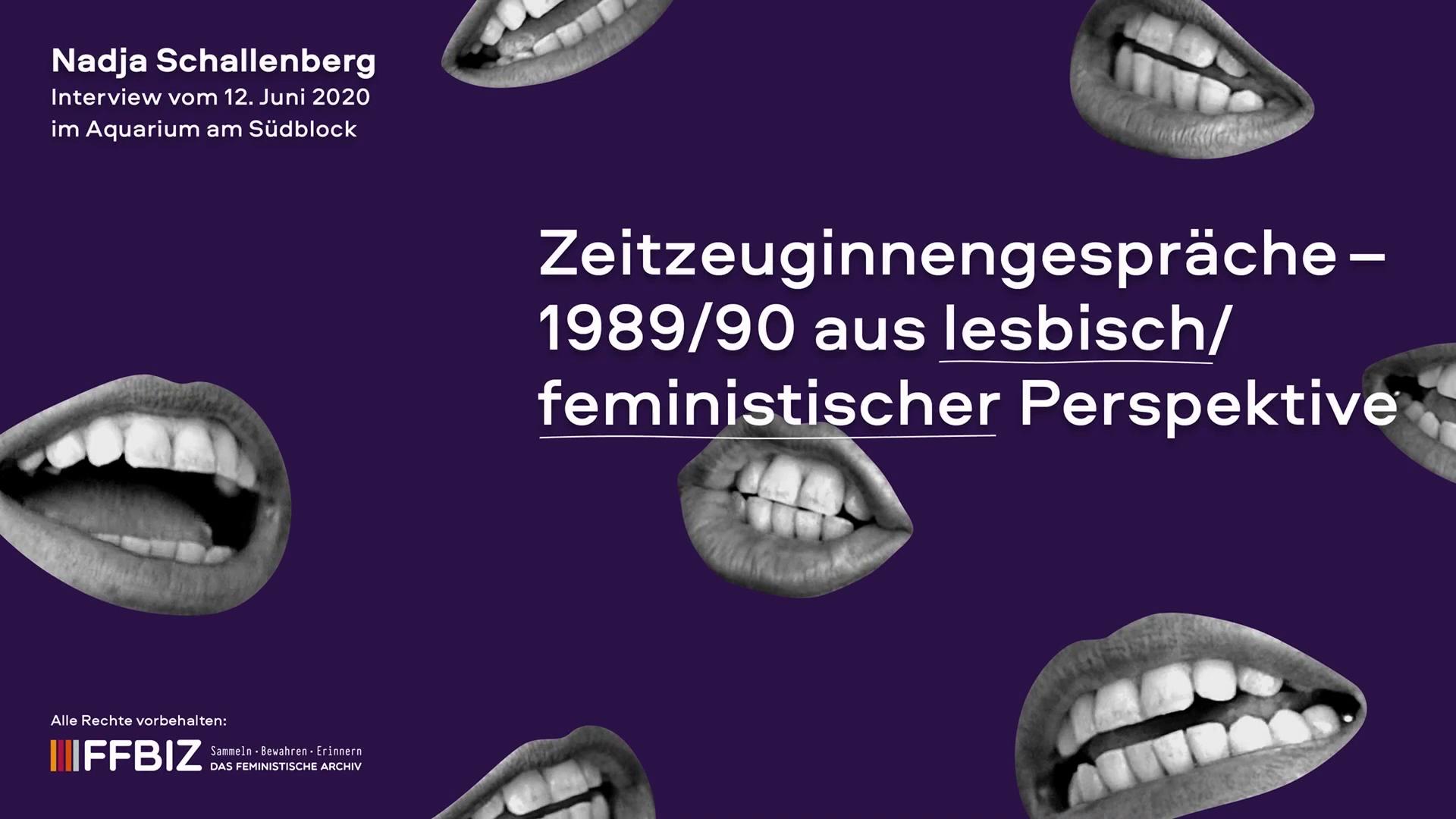 Zeitzeug*innen-Interview mit Nadja Schallenberg