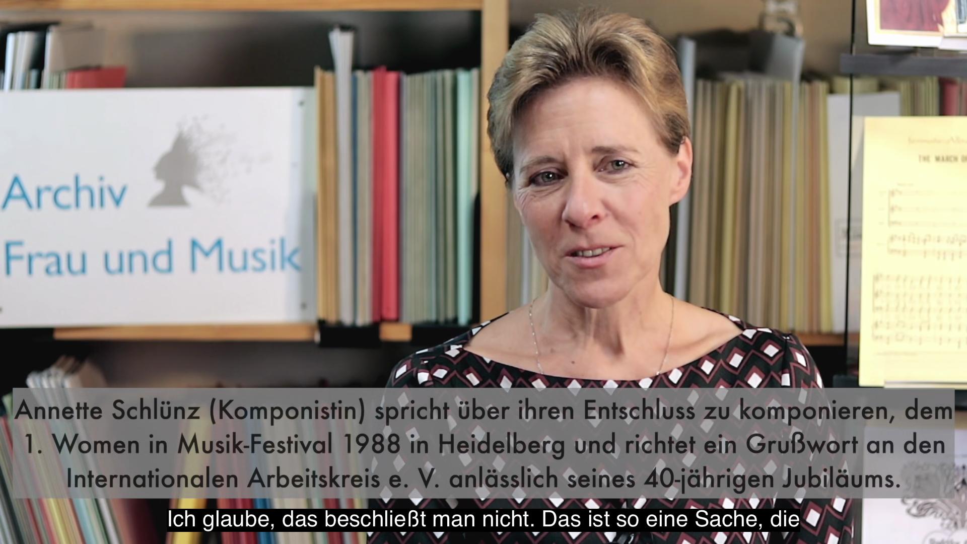 Video - Interview : Annette Schlünz