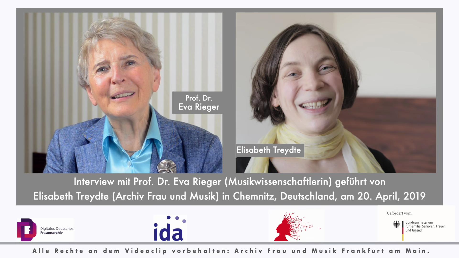 Video - Interview : Eva Rieger