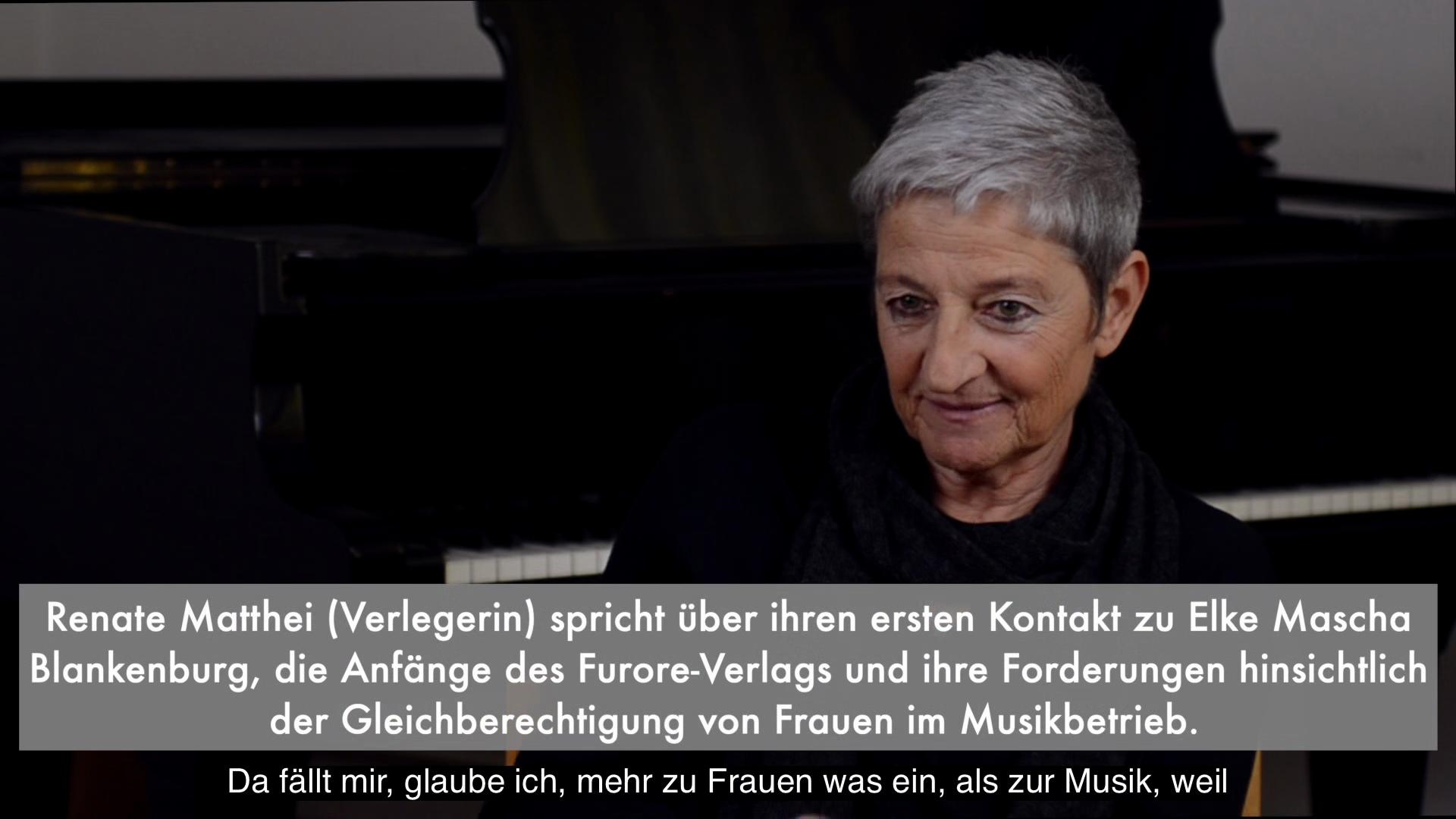 Video - Interview : Renate Matthei