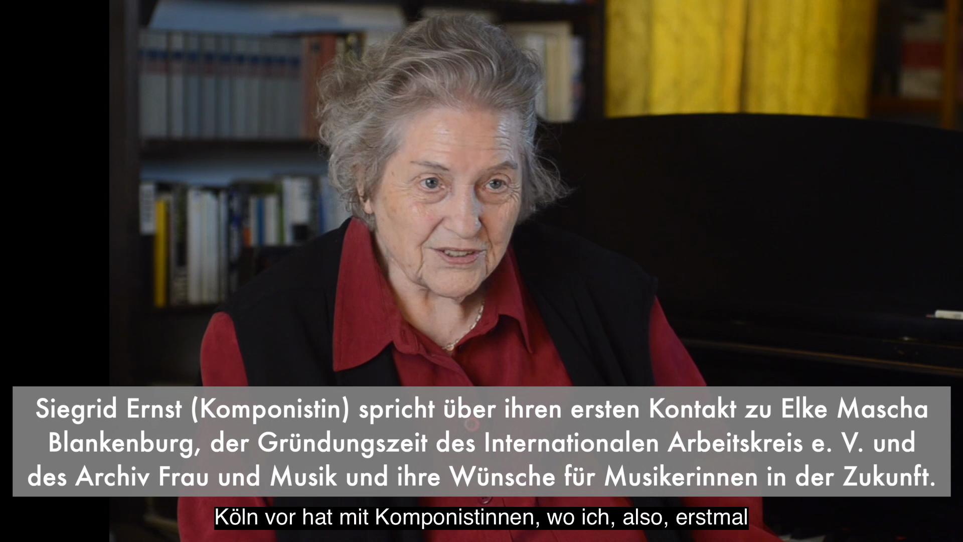 Video - Interview : Siegrid Ernst